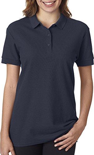 Premium Pique Polo - Gildan - Ladies Premium Cotton Double Pique Polo Shirt - 82800L-Navy-L