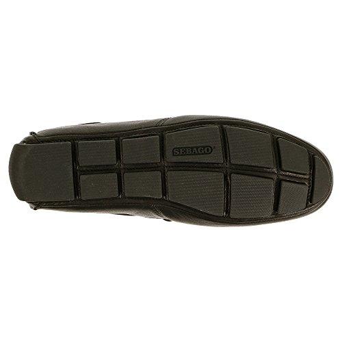 Sebago Manar Kedge Tie Slip-on Loafer Svart Läder