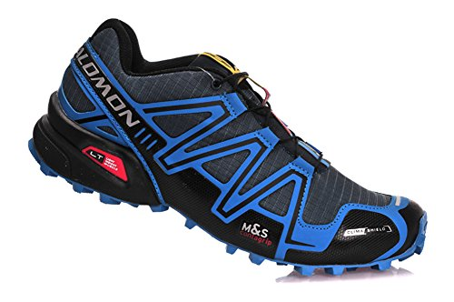 Salomon SPEEDCROSS 3 CS Trail running shoes MYMY® Men's Sports Shoes Deep gray blue 8.5 D(M) US=42EU