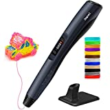 3D Pen, Lightest Intelligent 3D Printing Pen with LED Display Fit for PLA & ABS, 8 Digital Speed Control, 3D Printer Pen Best Birthday Holiday Gifts for Kids & Adults, Non-Clogging (1.62 Ounce)