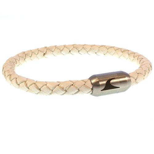 70b316847c21 wavepirate® Piel de pulsera Sylt g blanco plata para hombre Caliente de la  venta