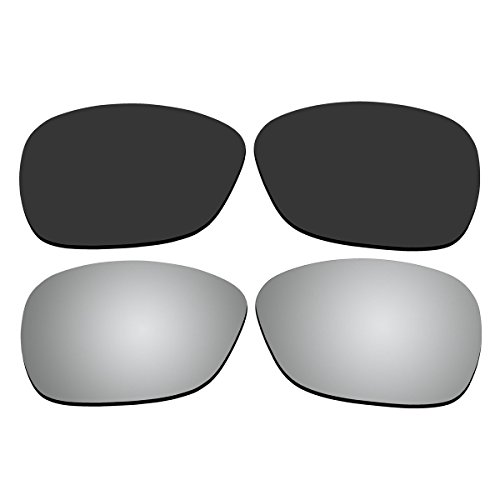 Replacement Polarized Black and Titanium Lenses for Oakley C Wire New (2011) - Oakley Wire Polarized C