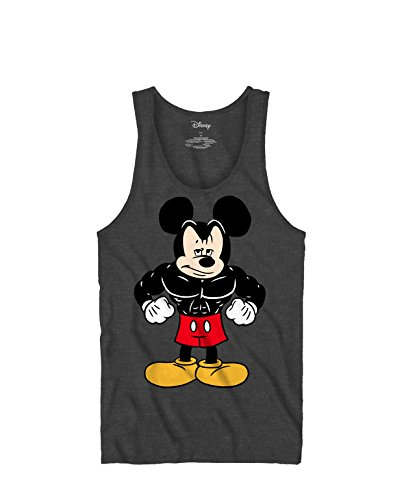 Tough Mickey Mouse Workout Exercise Graphic Tee Tank Top Classic Vintage Disneyland World Mens Adult T-Shirt Apparel (XX-Large, (Adult T-shirt Top Tee)