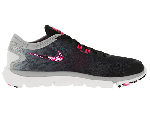 Nike Wmns Flex Supreme Tr 4 Pr, Zapatillas de Gimnasia para Mujer Negro (Black / Hyper Pink-Wlf Gry-White)