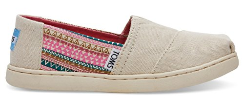 Toms Youth Alpargata Canvas Printed Espadrille, Size: 3.5 M US Big Kid, Color: Natural Hemp/Mud - Young Hut
