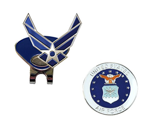Navika US Air Force WINGS and US Air Force (Round) Ball Marker with Magnetic Clip Combo by Navika