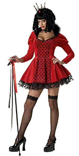 [Dark Queen of Hearts Costume for Women (Wig, cane and stockings not included)] (Queen Of Black Hearts Wig)