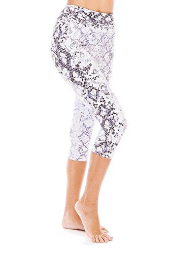 Digital Printed Women's Full-Length Yoga Workout Leggings Thin Capris - Snake Print - M (Snake Printed)