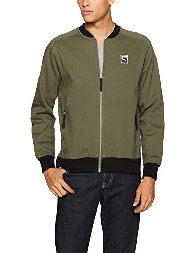 PUMA  Men's Classics + T7 Woven Jacket Olive Night Jacket