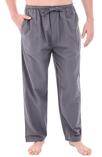 Alexander Del Rossa Mens Flannel Solid and Novelty Pajama Pants, Long Cotton Pj Bottoms