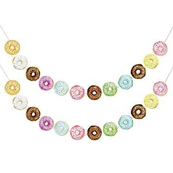 Amazon.com: Donut – Guirnalda de fiesta con temática de ...
