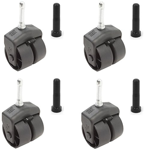 - Leggett & Platt Replacement Wheels / Casters with Socket Sleeves - Set of 4