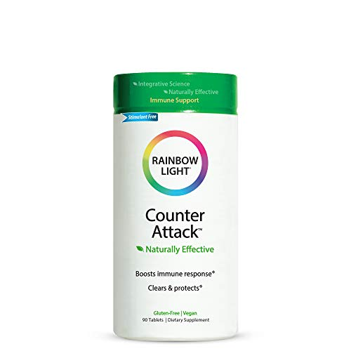 Rainbow Light Counter Attack, Supports Immune System Health, Vegan - 90 Tablets (Packaging May Vary)