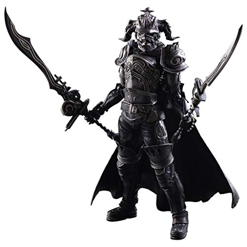Siyushop Final Fantasy: Gabranth Play Arts Kai Action Figure - Equipped with Weapons and Replaceable Hands - High 27CM