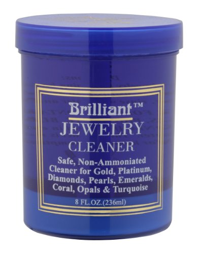(Brilliant® 8 Oz Jewelry Cleaner with Cleaning Basket and Brush)