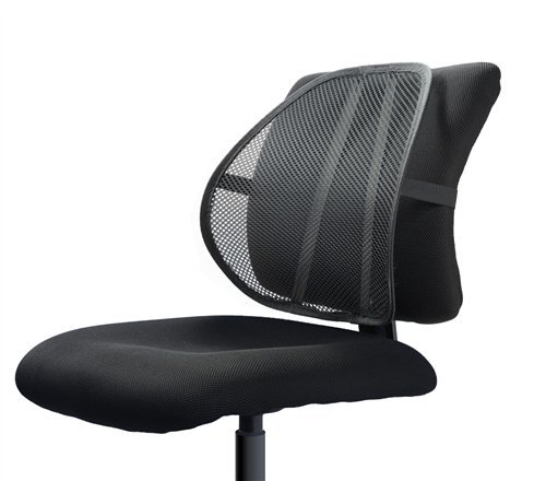Arch Back Chair - Easy Posture Lumbar Back Support Mesh (Black Mesh, 1PC)