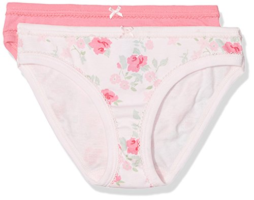 Petit Bateau Set of 2 Girls Panties-Underwear Style 27931 Sizes 2-12 (Size 4 Style 27931 (Petit Bateau Cotton Panties)