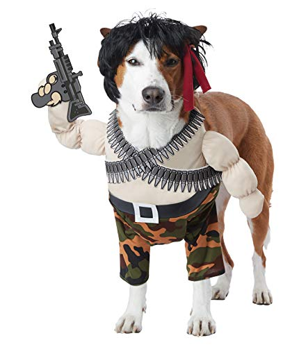 California Costumes Action Hero Dog Costumes, Pet, Multi, Small