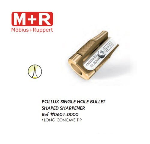 Mobius + Ruppert (M+R) POLLUX Brass Pencil Sharpener - Made in Germany - finest in the world! (0601)