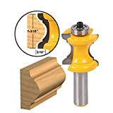 SMTHOME Tongue and Groove Router Bit,Grooving Router Bit, 1/2-Inch Shank Edging Wood Milling Saw Cutter New Woodworking Cutter Tools