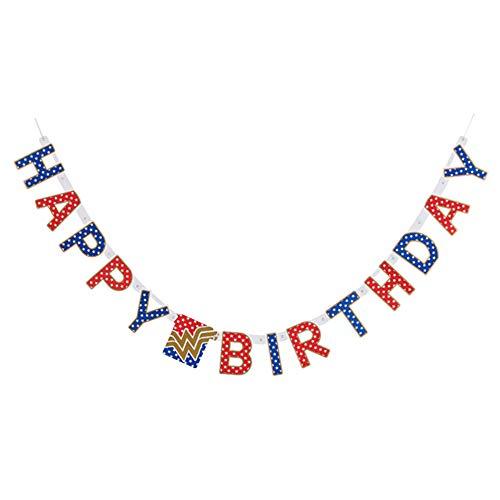 Wonder Woman Happy Birthday Banner (1ct)