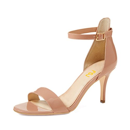 Strap Mid Heel Sandal - 8