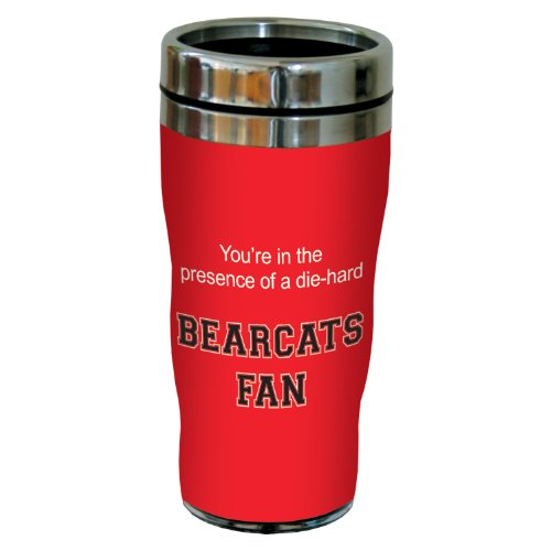 Tree-Free Greetings sg24409 Bearcats College Football Fan Sip 'N Go Stainless Steel Lined Travel Tumbler, 16-Ounce ()