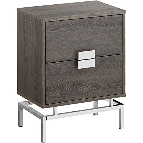 Decovio 15766-DT Seneca 24 X 18 inch Dark Taupe Accent End Table or Night Stand from Decovio