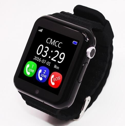 Ohmygod85 V7K Kids Bluetooth GPS Smart Watch 1.54inch Life Waterproof Smartwatch Safe Anti-Lost SOS Call Location Devicer Tracker (Black)