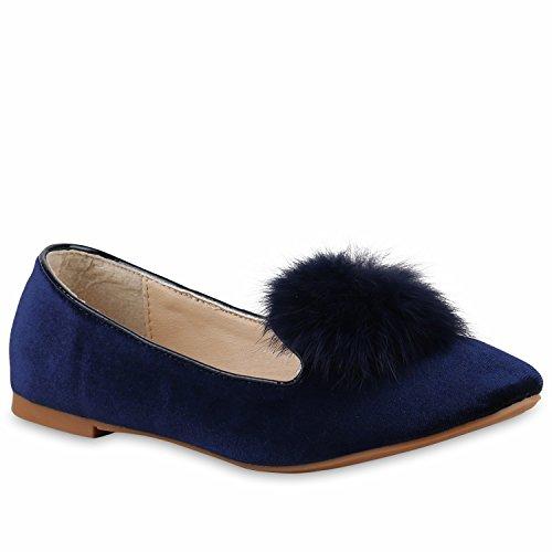 Damen Slipper Dandy Style Loafers Lack Profilsohle Schuhe Flandell Dunkelblau Bexhill