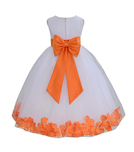 orange pageant dresses - 2