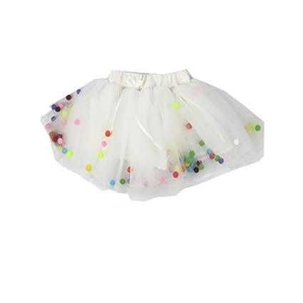 exiu bebé niñas tutú de boda cumpleaños fiesta princesa falda vestido 0 – 4 años blanco