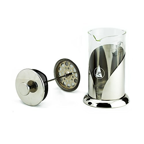 Best French Press Coffee Maker with Unique Filter System and Bonus – Brewing the Most Delicious Drink — 1 Liter, 34 Ounce, 8 Cups/4 Mugs — 2mm Thick Glass Carafe For Sale