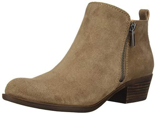 Lucky Women's LK-Basel Ankle Boot, Dark Mushroom, 6 M US