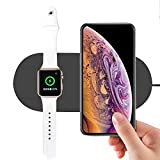 10W 2 in 1 Fast Charging Wireless Charger Pad for iPhone XS/XR / XS Max for iWatch Series 4 3 2 1
