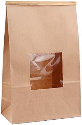 e0be6a8fb8 Katkitchen 25-Piece Stand Up Kraft Paper Bakery Treat Bags, 9