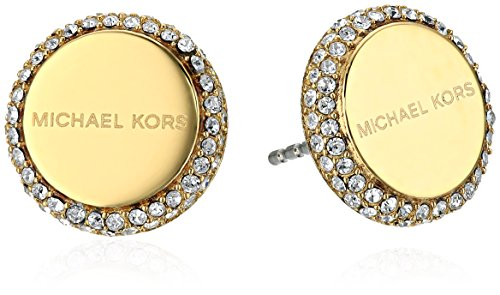 Logo Disc Earrings (Michael Kors Gold Logo Post Stud Earrings )