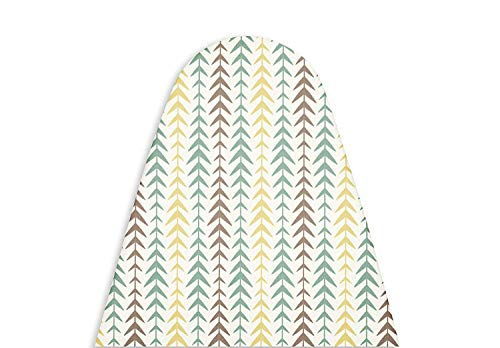 Encasa Homes Replacement Ironing Board Cover with Thick Felt Pad, Drawstring Tightening, (Fits Standard Wide Boards of 18 x 49 inch) Heat Reflective, Scorch & Stain Resistant, Printed - Multi Arrow