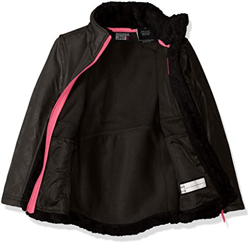 System Monkey DEGREES Black Embossed 32 Girls Dewspo a Fleece Jacket Jacket RZTFWq