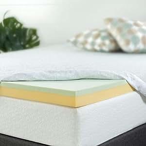 Amazon Com Zinus 3 Inch Green Tea Memory Foam Mattress
