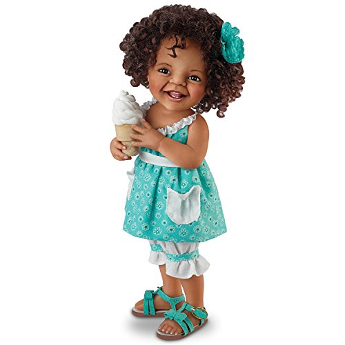 Jane Bradbury Lifelike Poseable Doll With Ice Cream Cone: Giggles And Curls by The Ashton-Drake Galleries