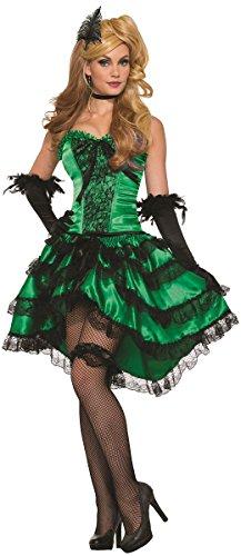 Wild West Saloon Girl Costume (Forum Women's Emerald Saloon Girl Costume, Green, Std)