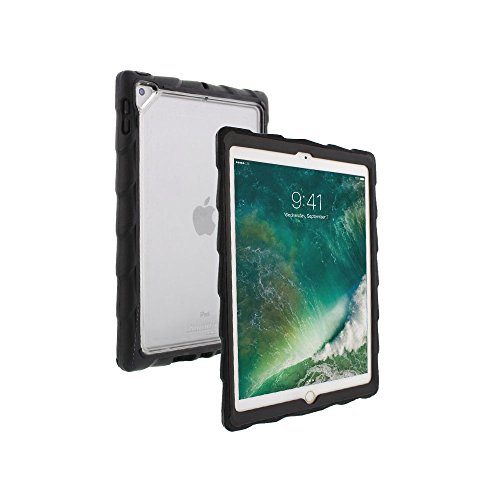 Gumdrop DropTech Clear Case Designed for The Apple iPad Pro 9.7 & Apple iPad Air 2 Tablet for K-12 Students, Teachers, Kids - Black/Smoke, Rugged, Shock Absorbing, Extreme Drop Protection