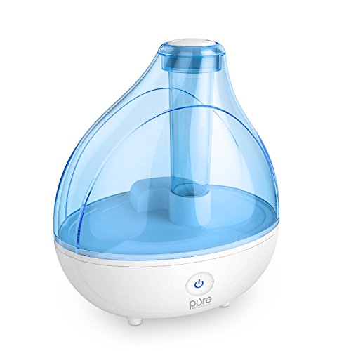 Ultrasonic Cool Mist Humidifier - Premium Humidifying Unit with Whisper-quiet Operation, Automatic Shut-off, and Night Light Function