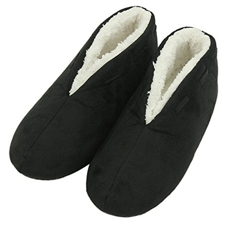 Non on Warm Slip Forfoot Plush Boots Black Slip Indoor Slippers Shoes Women's House 0qE0wxITS