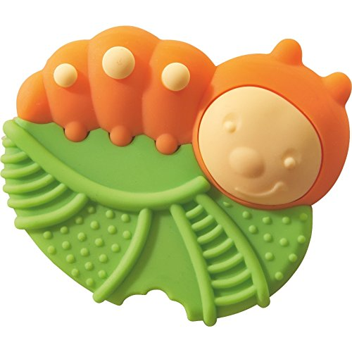 Haba Caterpillar Silicone Teether Clutching