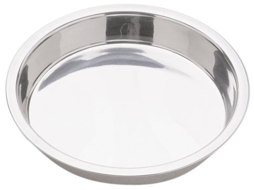 Happy Sales 9'' Stainless Steel Cake Pan (Set of 2), Silver