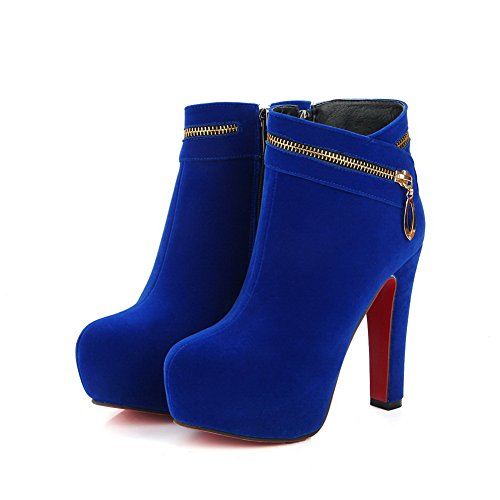 BalaMasaAbl09675 - Sandali con Zeppa donna, Blu (Blue), 35