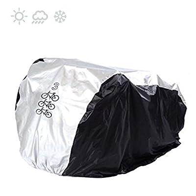 Maveek For 3 Bike Cycle Bicycle Rain Waterproof UV Protection Triple Bikes Cover All Weather Dust Resistant