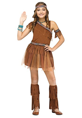 Pocahantas Halloween Costume - Fun World 117442L Girl's Give Thanks